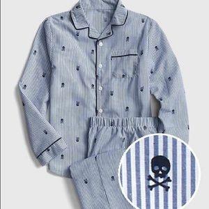 NWT Children's Skull Striped Pajamas / GAP Kids
